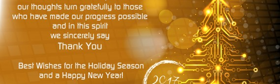 Best Wishes for the Holiday Season and a Happy New Year!