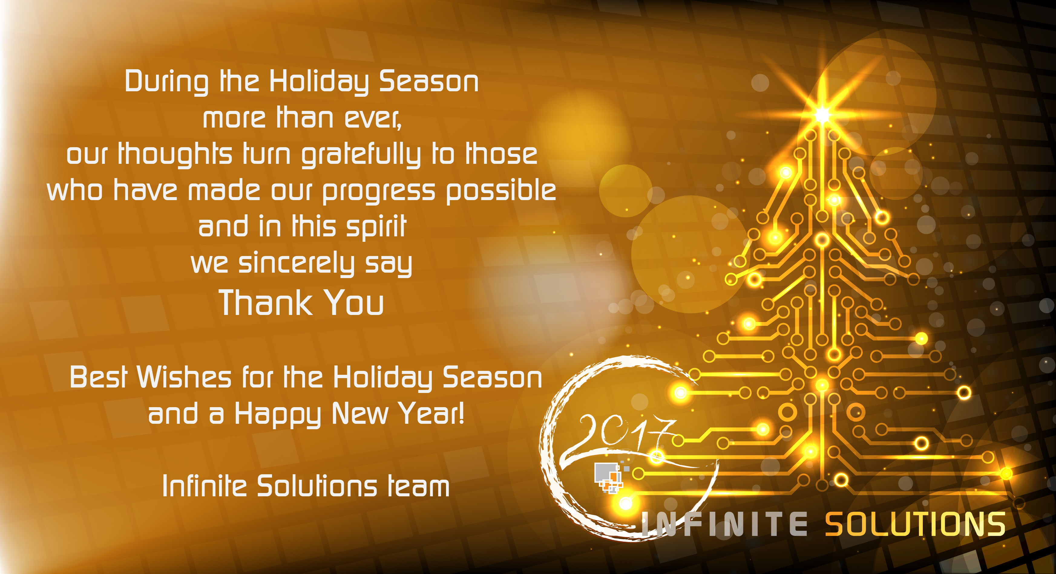 Infinite Solutions Best Wishes For Holiday Season