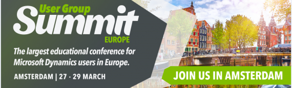 Infinite Solutions will participate @ D365 User Group Summit Europe in Amsterdam 27 – 29 March 2019